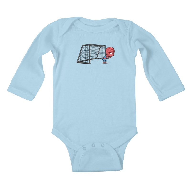 Sporty Spidey - Soccer Kids Baby Longsleeve Bodysuit by Flying Mouse365