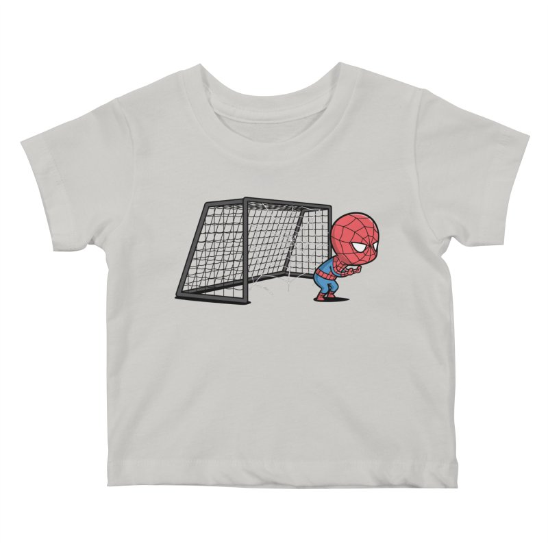 Sporty Buddy - Soccer Kids Baby T-Shirt by Flying Mouse365