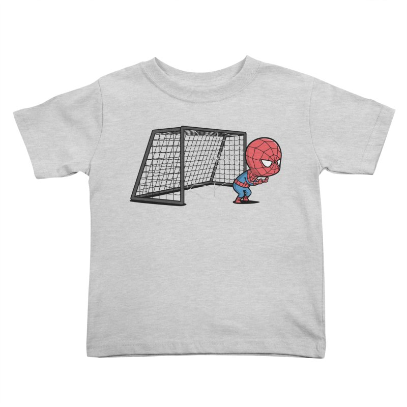Sporty Spidey - Soccer Kids Toddler T-Shirt by Flying Mouse365