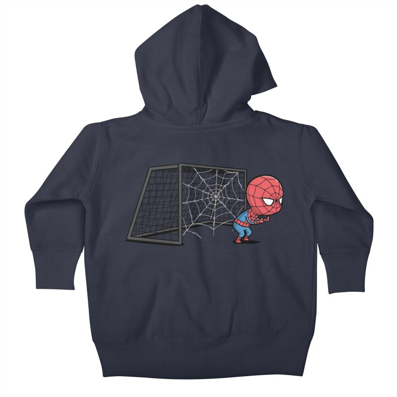 Sporty Spidey - Soccer Kids Baby Zip-Up Hoody by Flying Mouse365