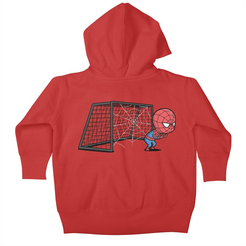Sporty Buddy - Soccer Kids Baby Zip-Up Hoody by Flying Mouse365