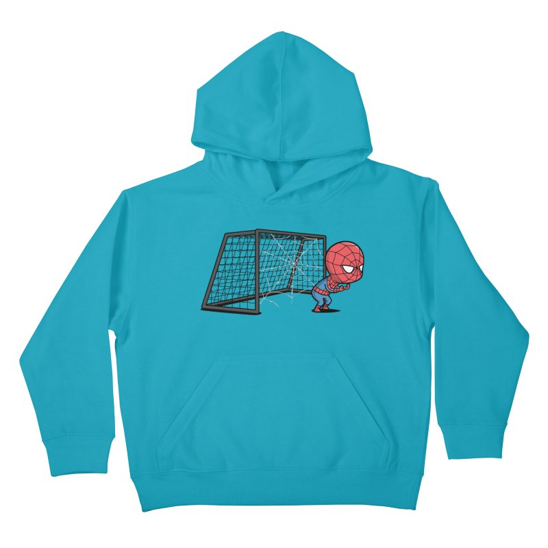 Sporty Buddy - Soccer Kids Pullover Hoody by Flying Mouse365