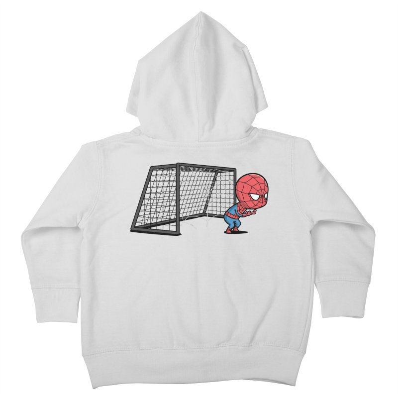 Sporty Spidey - Soccer Kids Toddler Zip-Up Hoody by Flying Mouse365