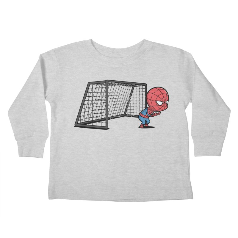 Sporty Spidey - Soccer Kids Toddler Longsleeve T-Shirt by Flying Mouse365