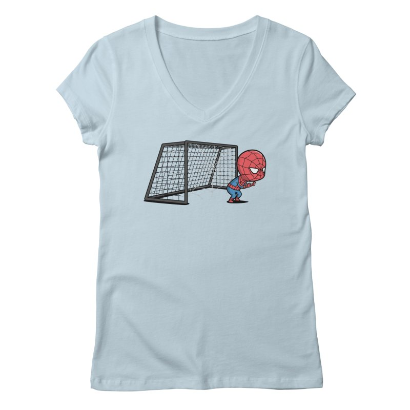 Sporty Spidey - Soccer Women's V-Neck by Flying Mouse365