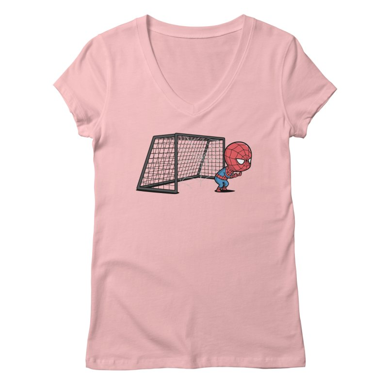 Sporty Buddy - Soccer Women's V-Neck by Flying Mouse365