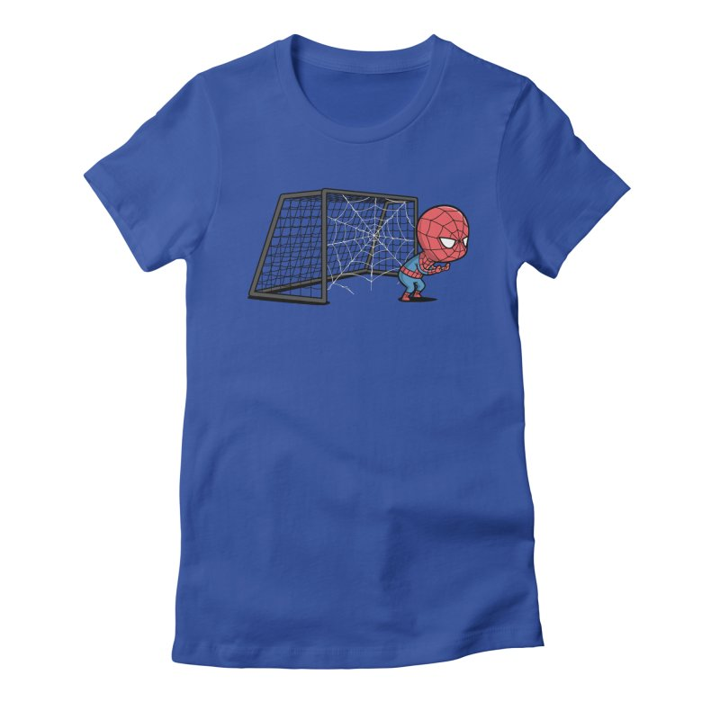 Sporty Spidey - Soccer Women's Fitted T-Shirt by Flying Mouse365