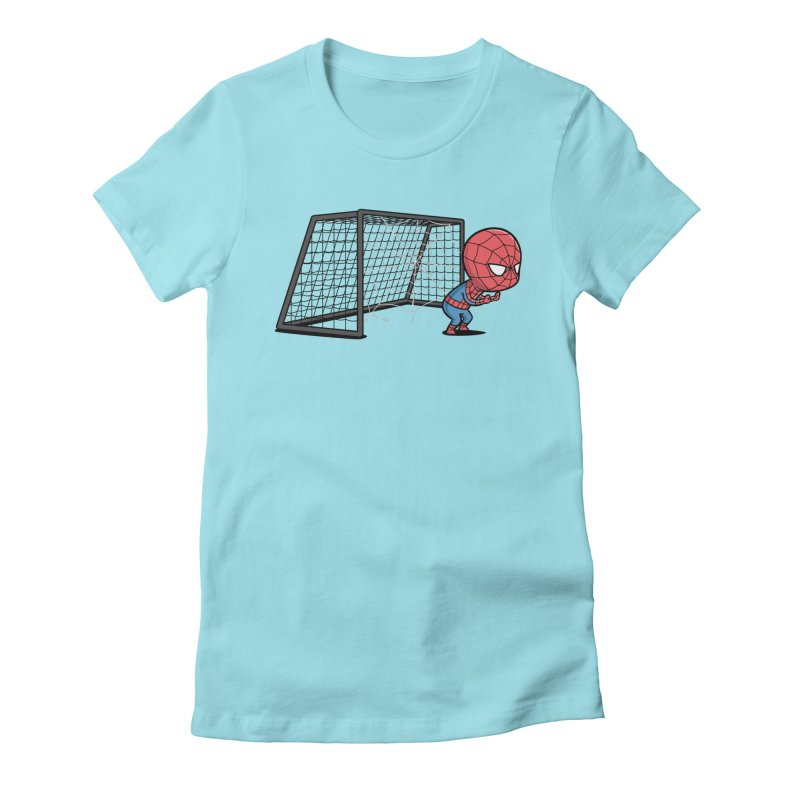 Sporty Buddy - Soccer Women's Fitted T-Shirt by Flying Mouse365