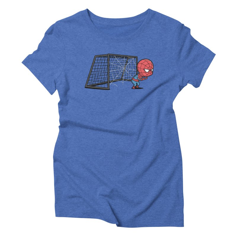 Sporty Buddy - Soccer Women's Triblend T-shirt by Flying Mouse365