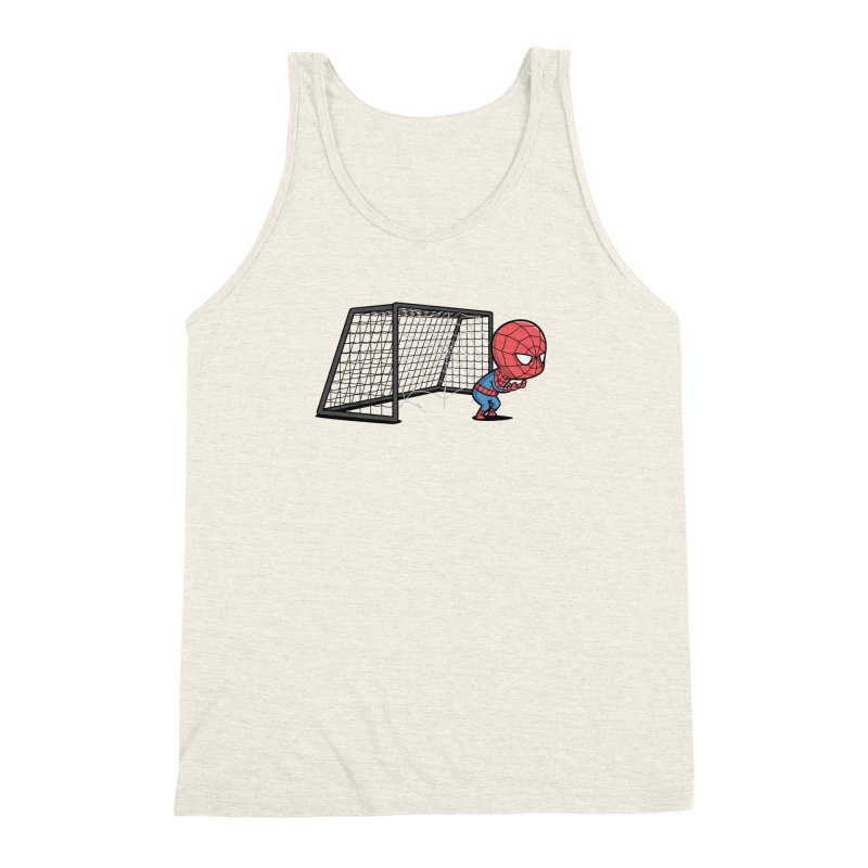Sporty Spidey - Soccer Men's Triblend Tank by Flying Mouse365