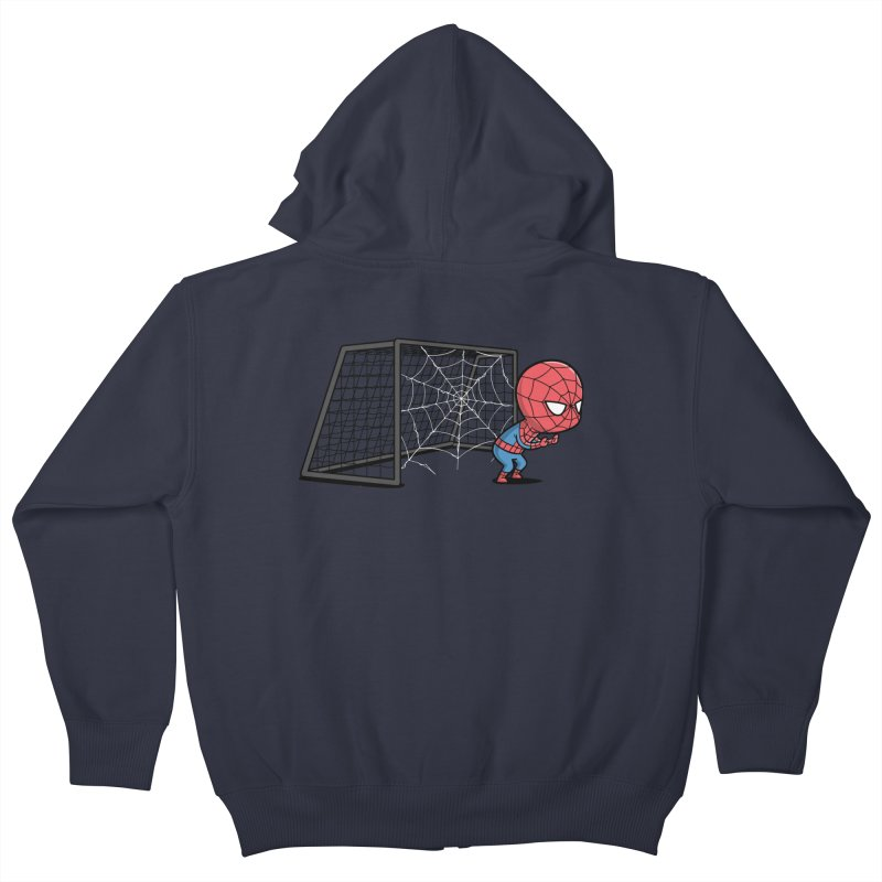 Sporty Spidey - Soccer Kids Zip-Up Hoody by Flying Mouse365