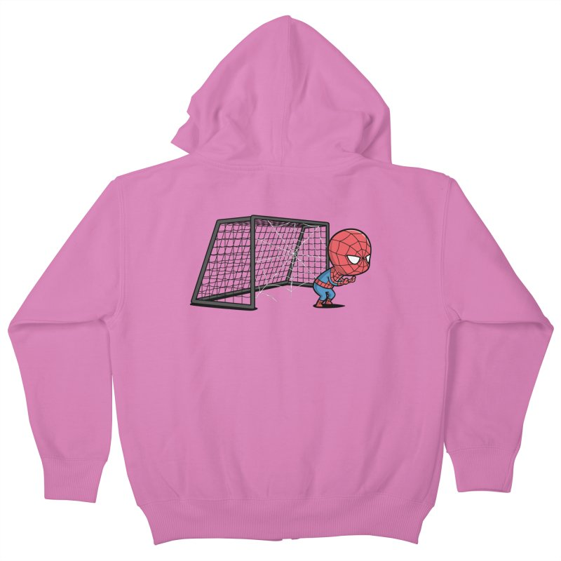 Sporty Buddy - Soccer Kids Zip-Up Hoody by Flying Mouse365