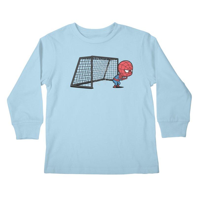 Sporty Buddy - Soccer Kids Longsleeve T-Shirt by Flying Mouse365