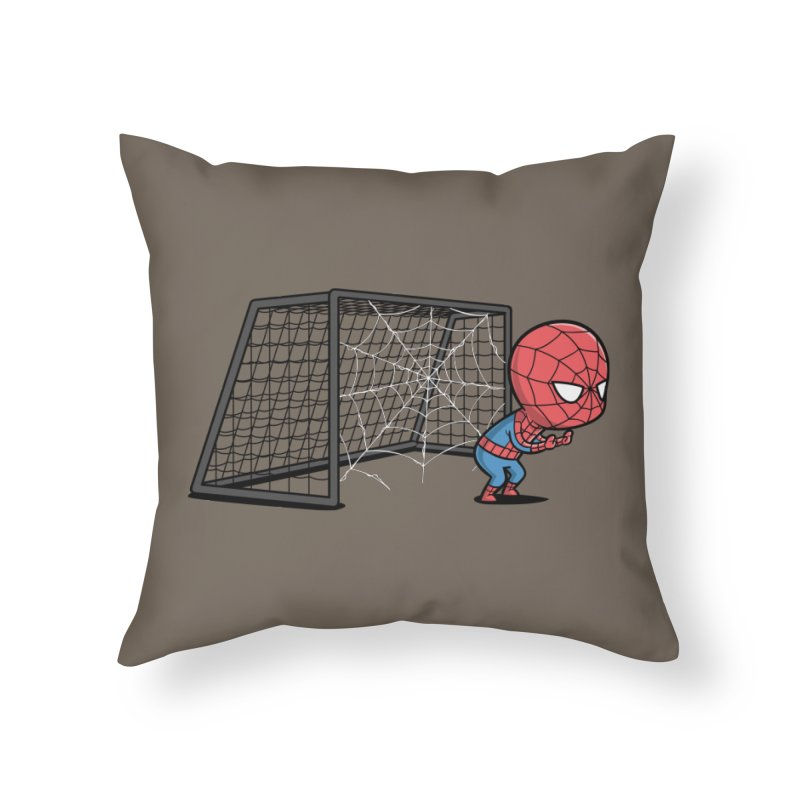 Sporty Spidey - Soccer Home Throw Pillow by Flying Mouse365