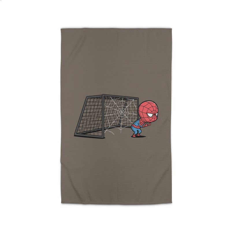 Sporty Spidey - Soccer Home Rug by Flying Mouse365
