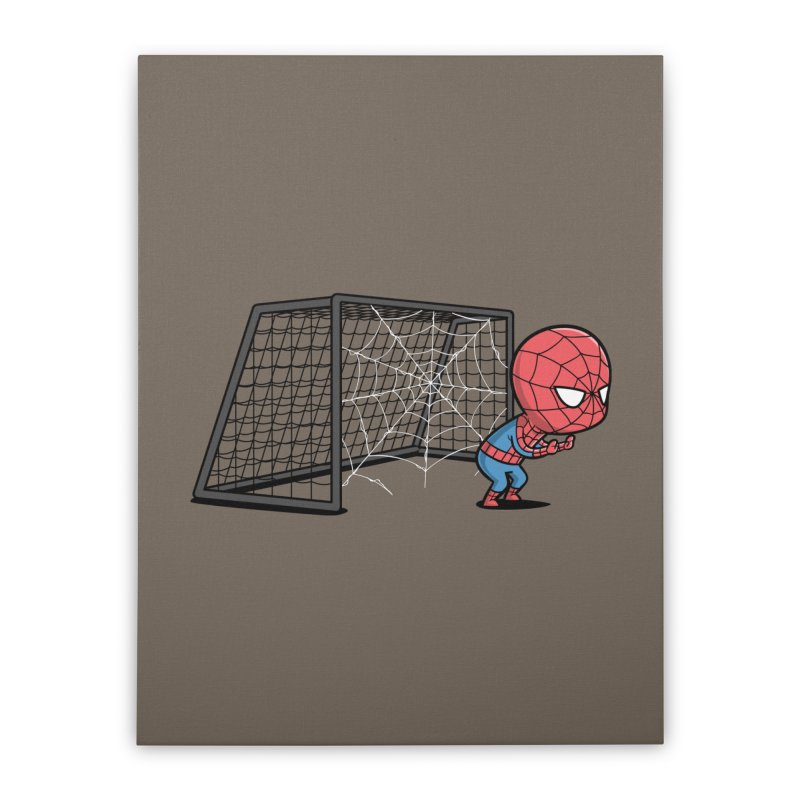 Sporty Buddy - Soccer Home Stretched Canvas by Flying Mouse365