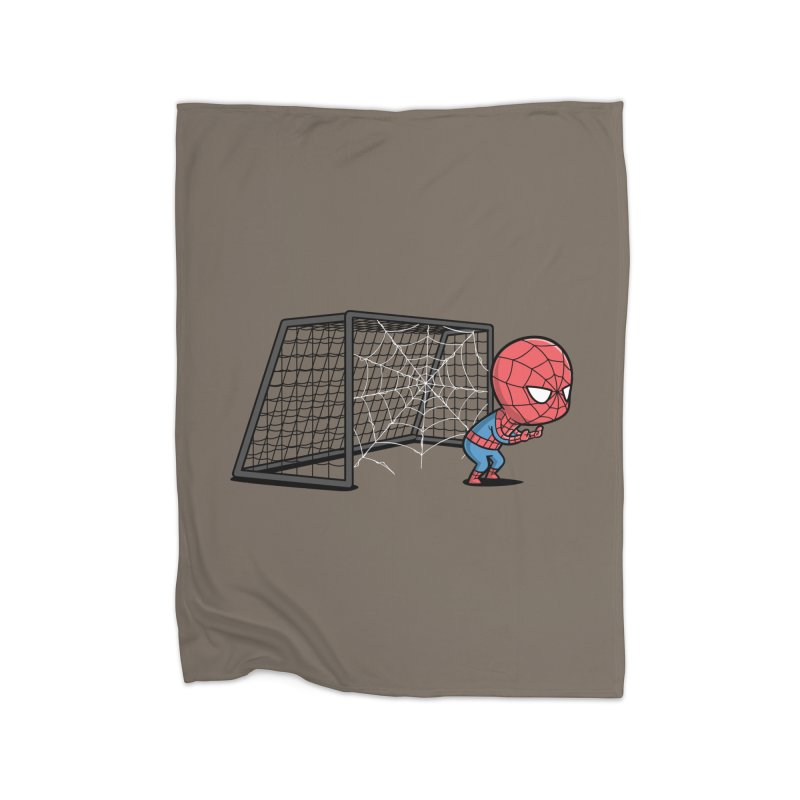 Sporty Buddy - Soccer Home Fleece Blanket by Flying Mouse365