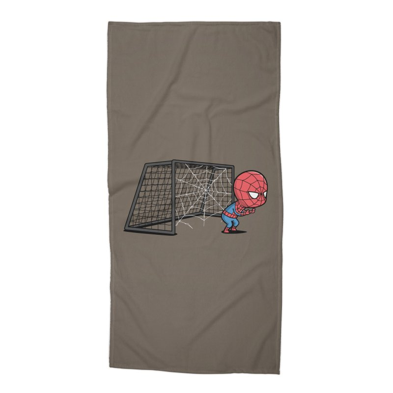 Sporty Spidey - Soccer Accessories Beach Towel by Flying Mouse365