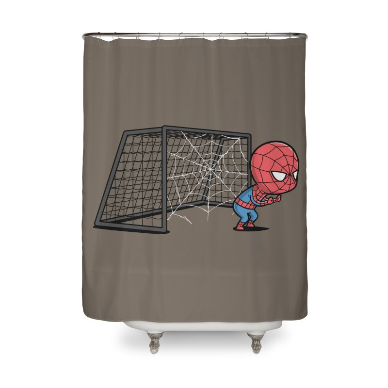 Sporty Buddy - Soccer Home Shower Curtain by Flying Mouse365