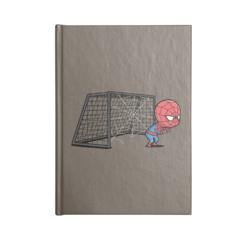 Sporty Spidey - Soccer Accessories Notebook by Flying Mouse365