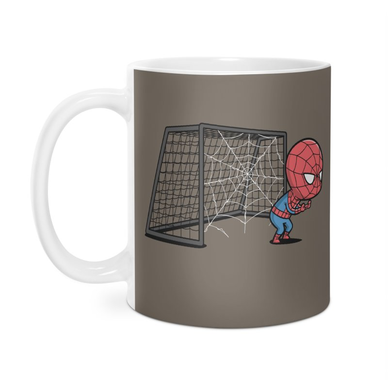 Sporty Spidey - Soccer Accessories Mug by Flying Mouse365