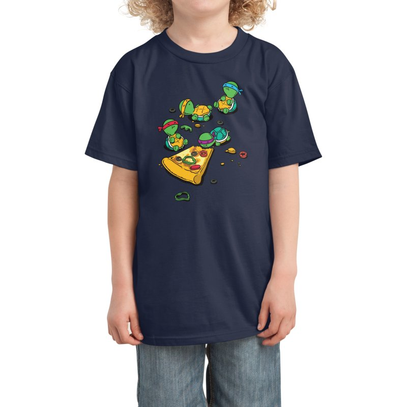 Pizza Lover Kids T-Shirt by Flying Mouse365