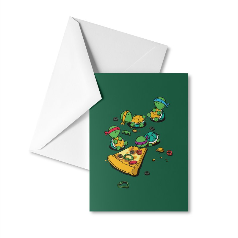 Pizza Lover Accessories Greeting Card by Flying Mouse365