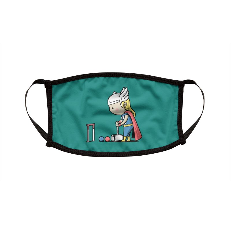 Sporty Buddy - Croquet Accessories Face Mask by Flying Mouse365