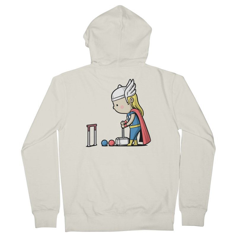 Sporty Buddy - Croquet Women's Zip-Up Hoody by Flying Mouse365