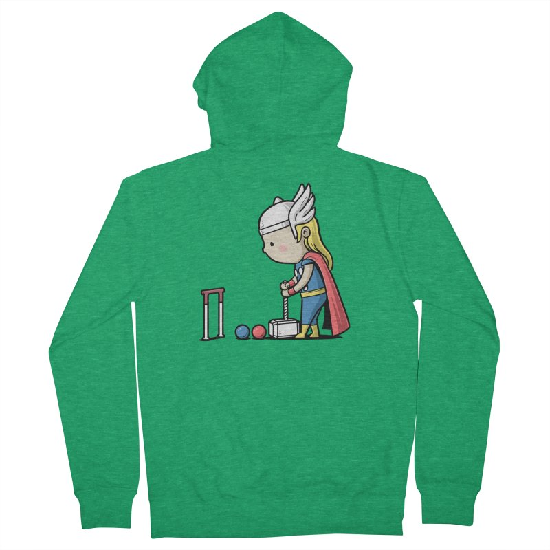 Sporty Buddy - Croquet Men's Zip-Up Hoody by Flying Mouse365