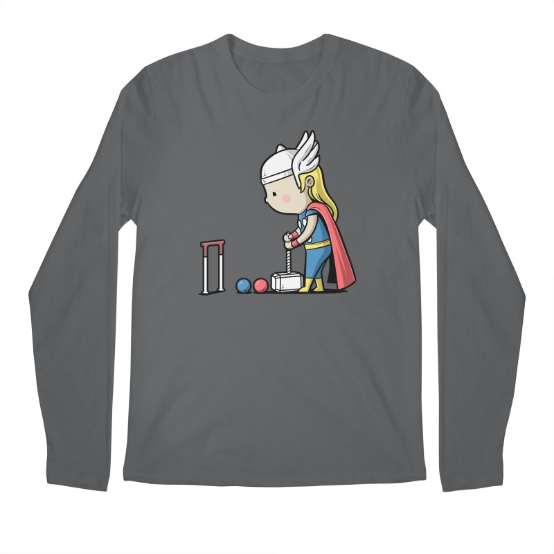 Sporty Buddy - Croquet Men's Longsleeve T-Shirt by Flying Mouse365