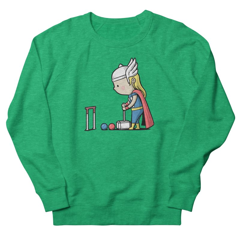 Sporty Buddy - Croquet Women's Sweatshirt by Flying Mouse365