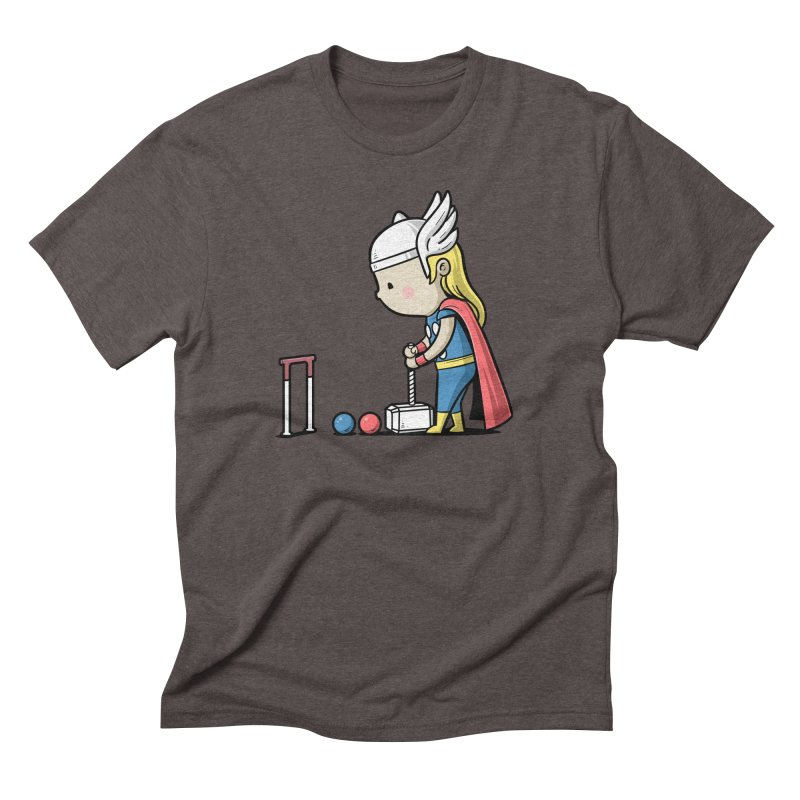 Sporty Buddy - Croquet Men's Triblend T-Shirt by Flying Mouse365