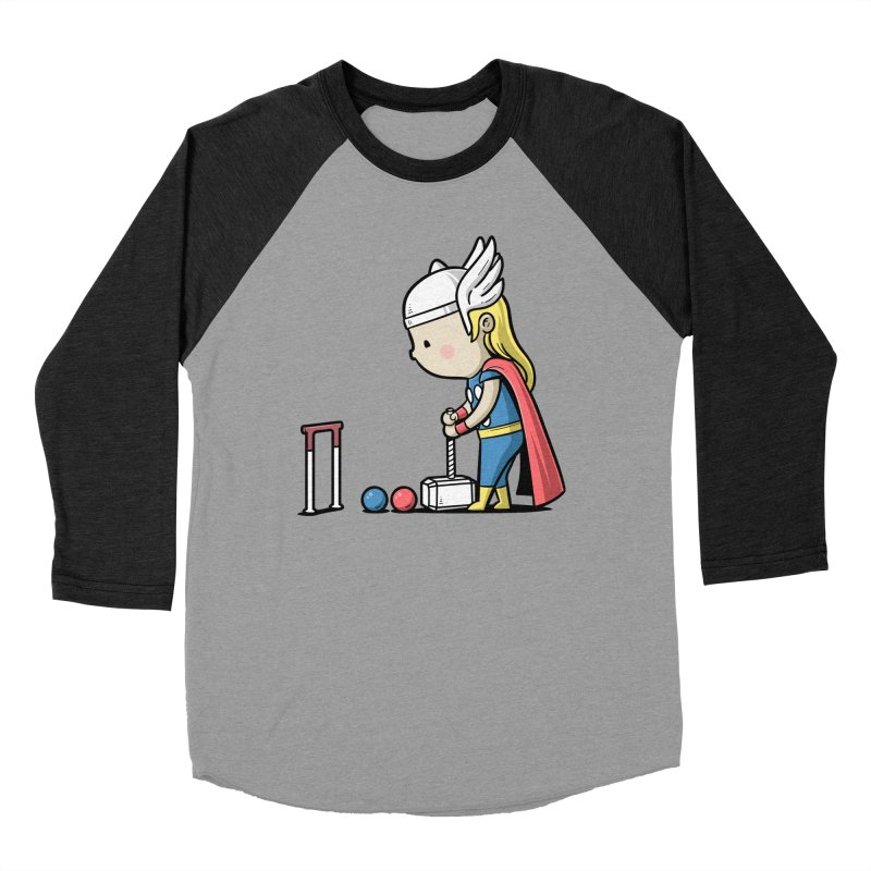 Sporty Buddy - Croquet Women's Baseball Triblend T-Shirt by Flying Mouse365