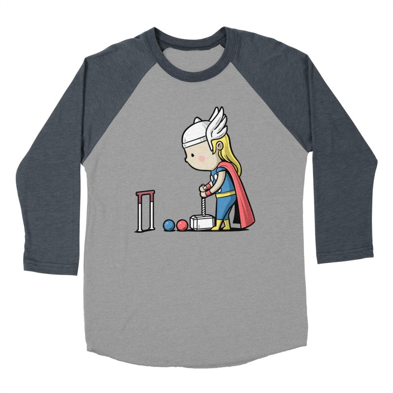 Sporty Buddy - Croquet Men's Baseball Triblend T-Shirt by Flying Mouse365