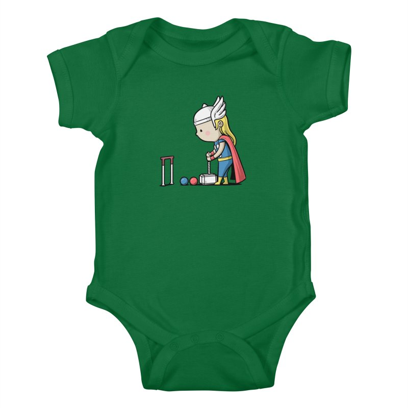 Sporty Buddy - Croquet Kids Baby Bodysuit by Flying Mouse365