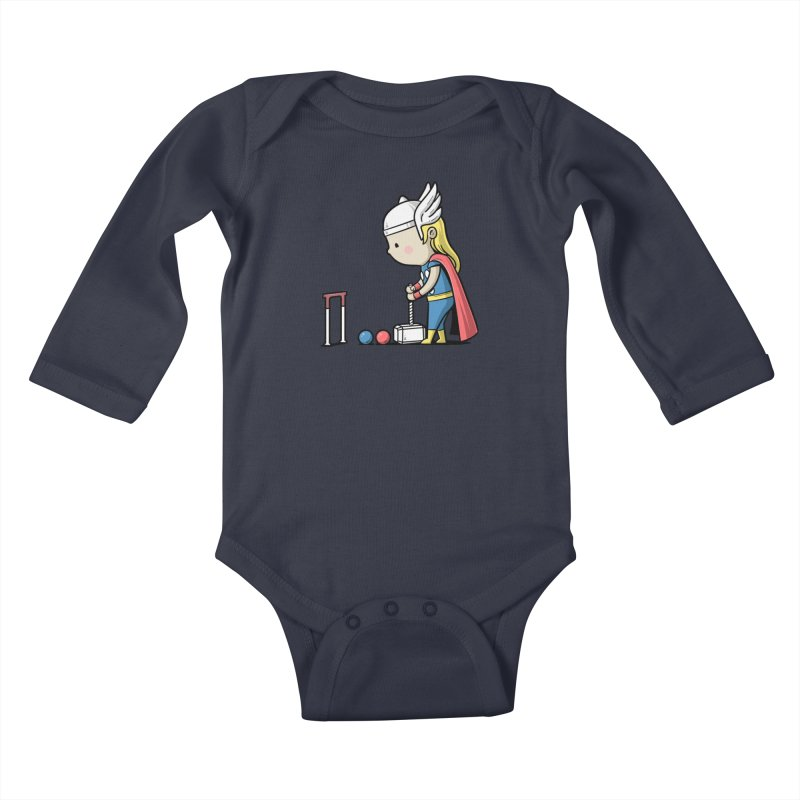 Sporty Buddy - Croquet Kids Baby Longsleeve Bodysuit by Flying Mouse365