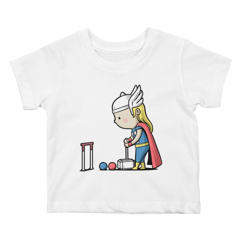 Sporty Buddy - Croquet Kids Baby T-Shirt by Flying Mouse365