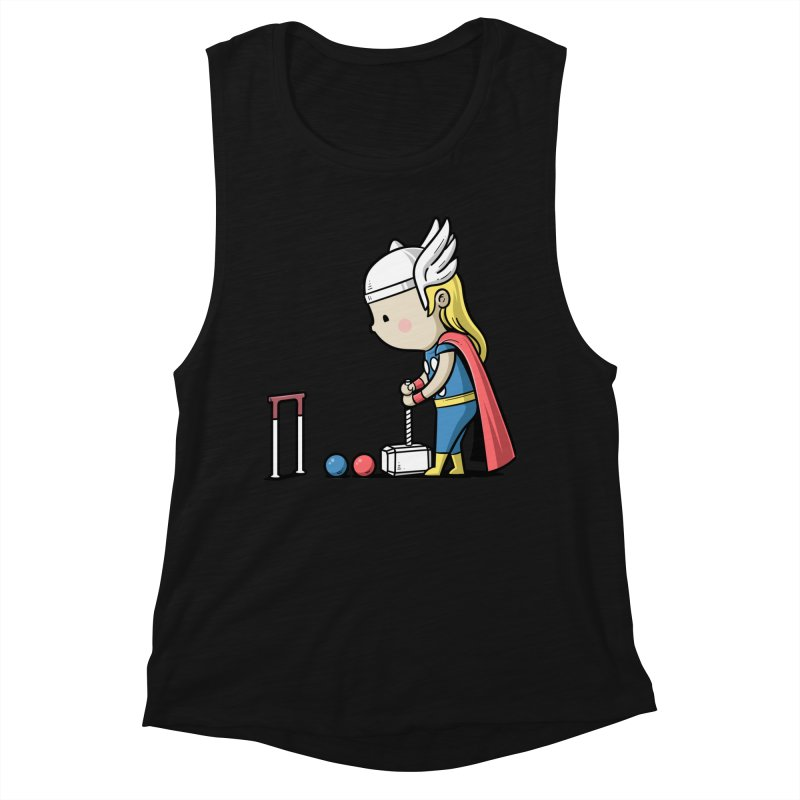 Sporty Buddy - Croquet Women's Tank by Flying Mouse365