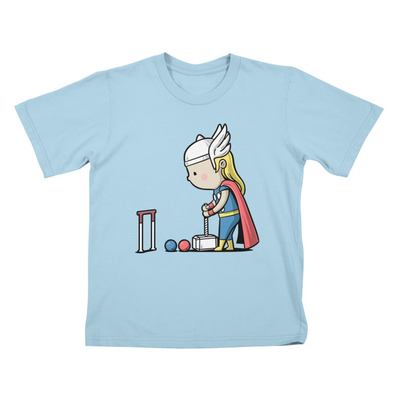 Sporty Buddy - Croquet Kids T-shirt by Flying Mouse365
