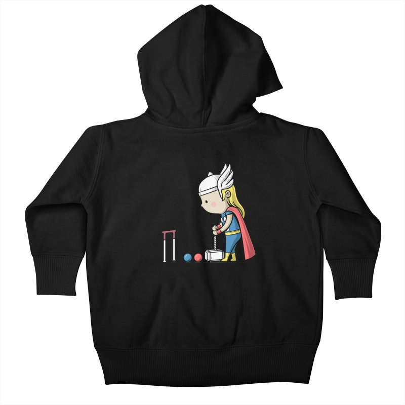 Sporty Buddy - Croquet Kids Baby Zip-Up Hoody by Flying Mouse365