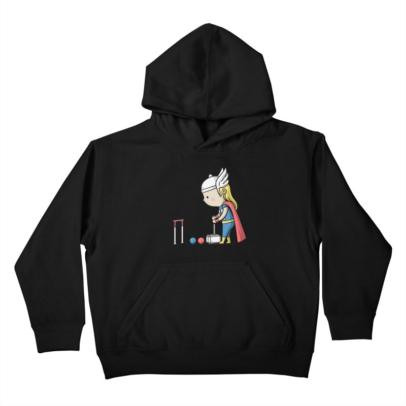 Sporty Buddy - Croquet Kids Pullover Hoody by Flying Mouse365