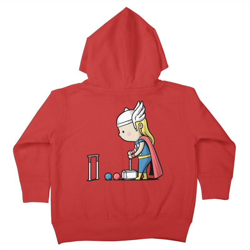 Sporty Buddy - Croquet Kids Toddler Zip-Up Hoody by Flying Mouse365