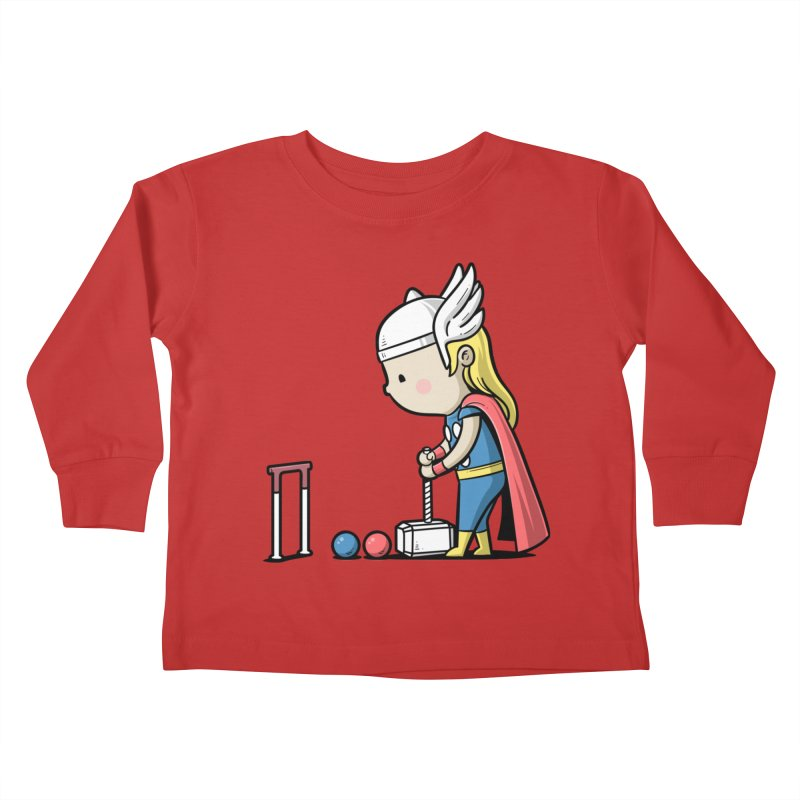 Sporty Buddy - Croquet Kids Toddler Longsleeve T-Shirt by Flying Mouse365