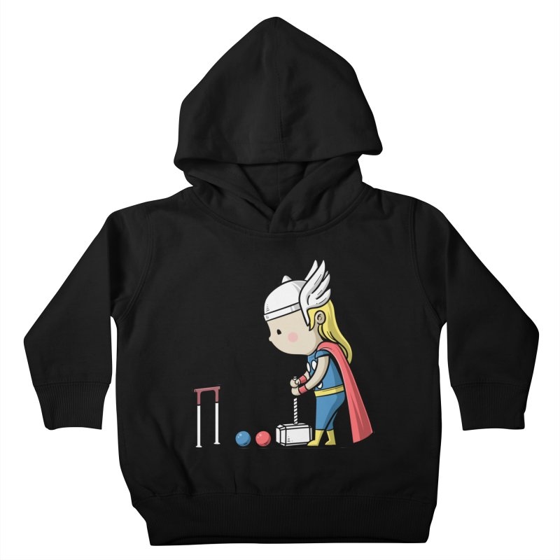 Sporty Buddy - Croquet Kids Toddler Pullover Hoody by Flying Mouse365