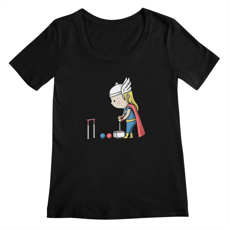 Sporty Buddy - Croquet Women's Scoopneck by Flying Mouse365