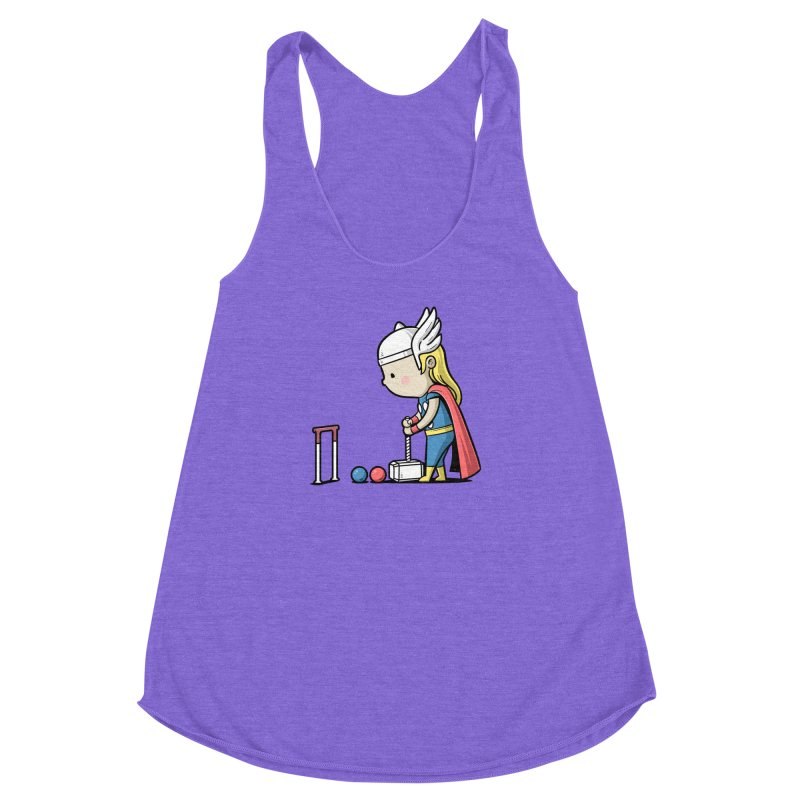Sporty Buddy - Croquet Women's Racerback Triblend Tank by Flying Mouse365