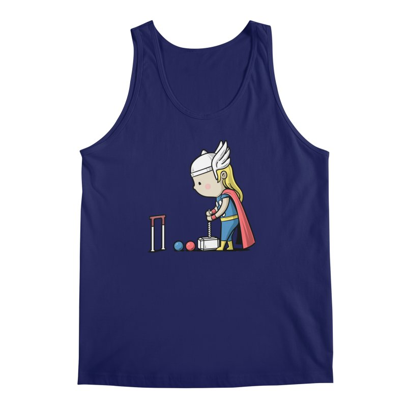 Sporty Buddy - Croquet Men's Tank by Flying Mouse365