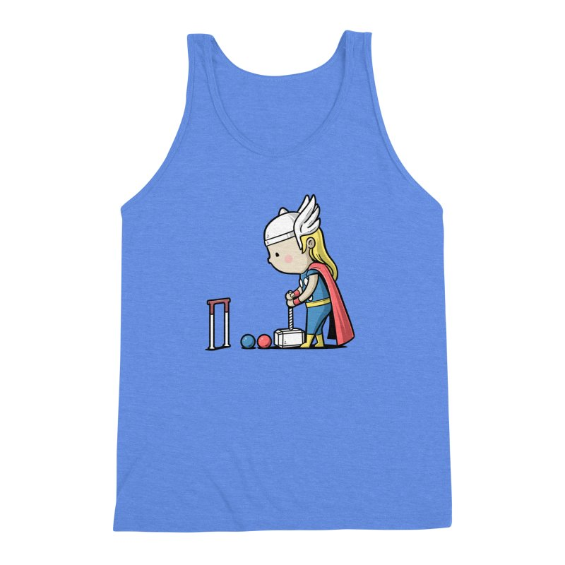 Sporty Buddy - Croquet Men's Triblend Tank by Flying Mouse365