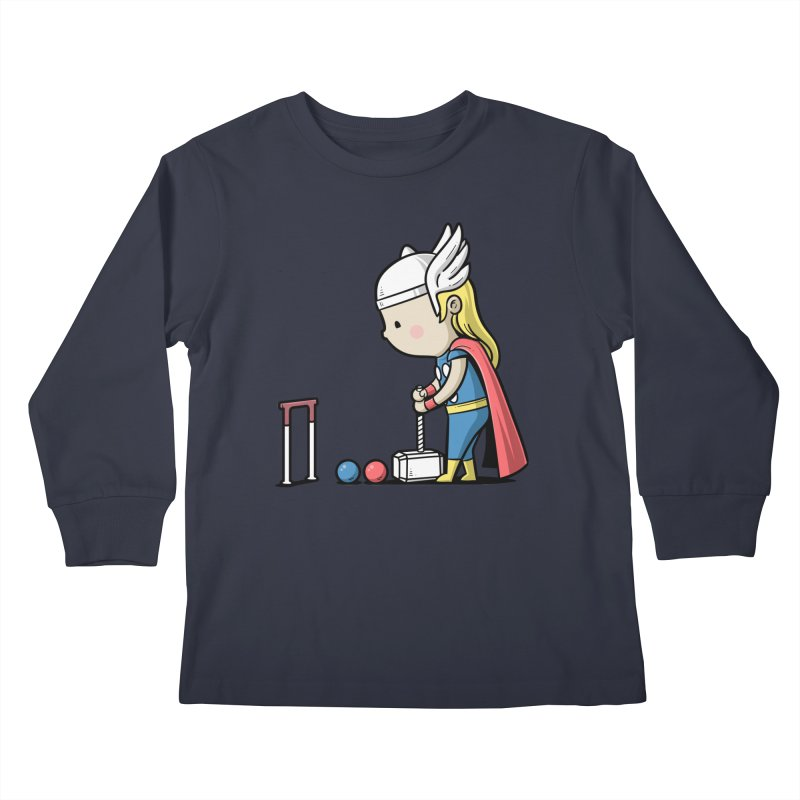 Sporty Buddy - Croquet Kids Longsleeve T-Shirt by Flying Mouse365